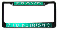 Irish License Plate Frame Pride