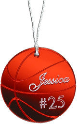 Basketball Christmas Ornament