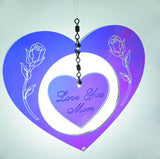 Mom Gift Flower Heart Suncatcher