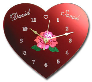 Romantic Heart Clock
