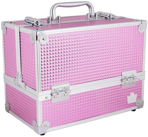 Caboodles Pink Bubble Stylist Train Case
