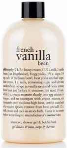 Philosophy French Vanilla Bean Ice Cream 3-In-1 Shampoo, Shower Gel & Bubble Bath