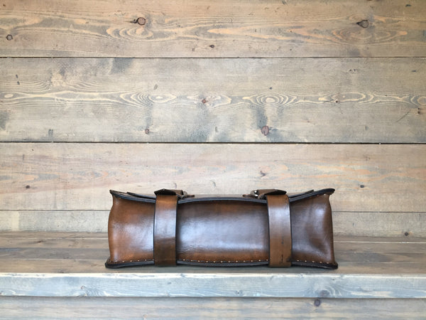 The Aviator Satchel - Antique Brown