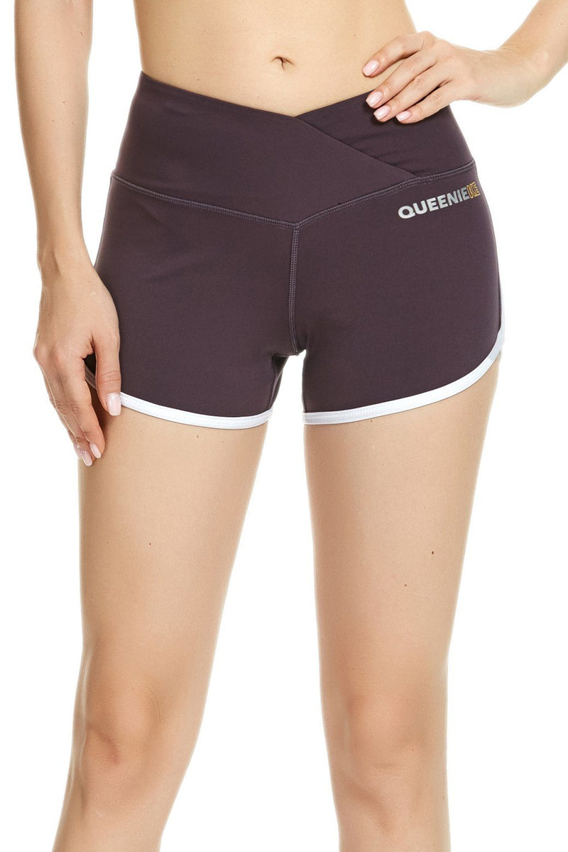 "Women 3.5"" Inseam Mid-Waist Tummy Control Yoga Train Running Shorts - 91031-NEW RELEASE"