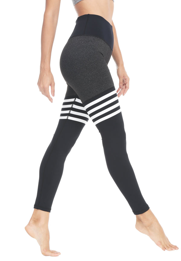 Women Yoga Leggings Knee-high Sock Pants Workout Running Tights