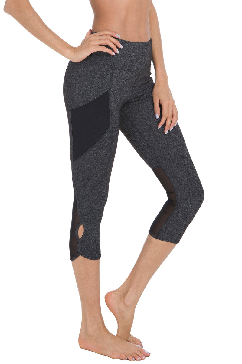 Women Yoga 3 phone pockets Workout Sports Running Capri - Queenie Ke