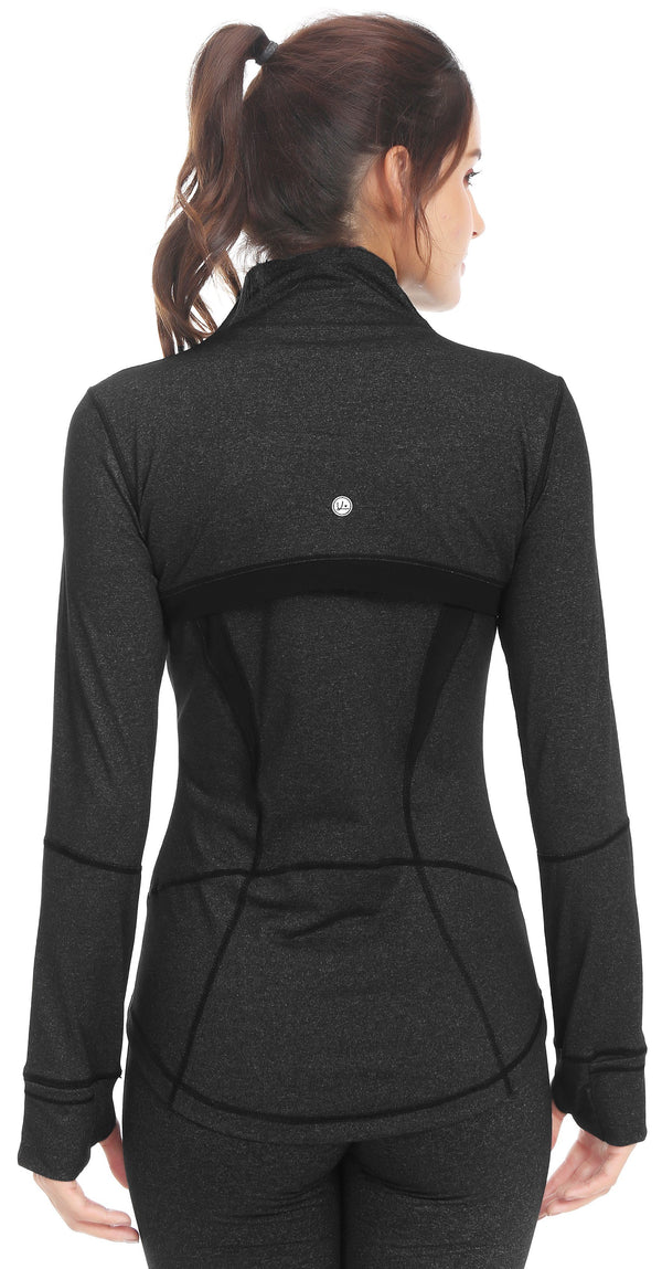Women's Sports Define Jacket Slim Fit and Cottony-Soft Handfeel - Dark Charcoal - 60927