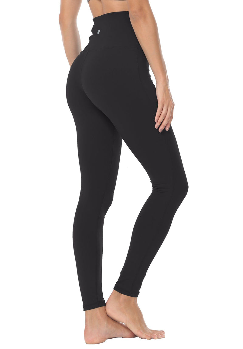 Women Yoga Legging Power Flex High Waist Tummy Control Running Workout Tights - Queenie Ke
