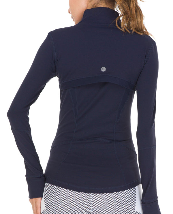 Women's Sports Define Jacket Slim Fit and Cottony-Soft Handfeel - Dark Navy - 60927