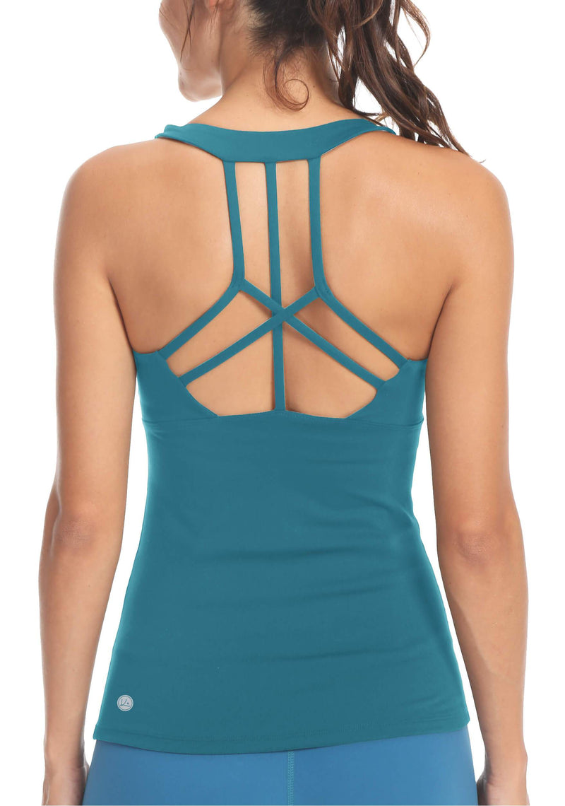 Womens Yoga Workouts Strappy Back Sport Tank - 8029