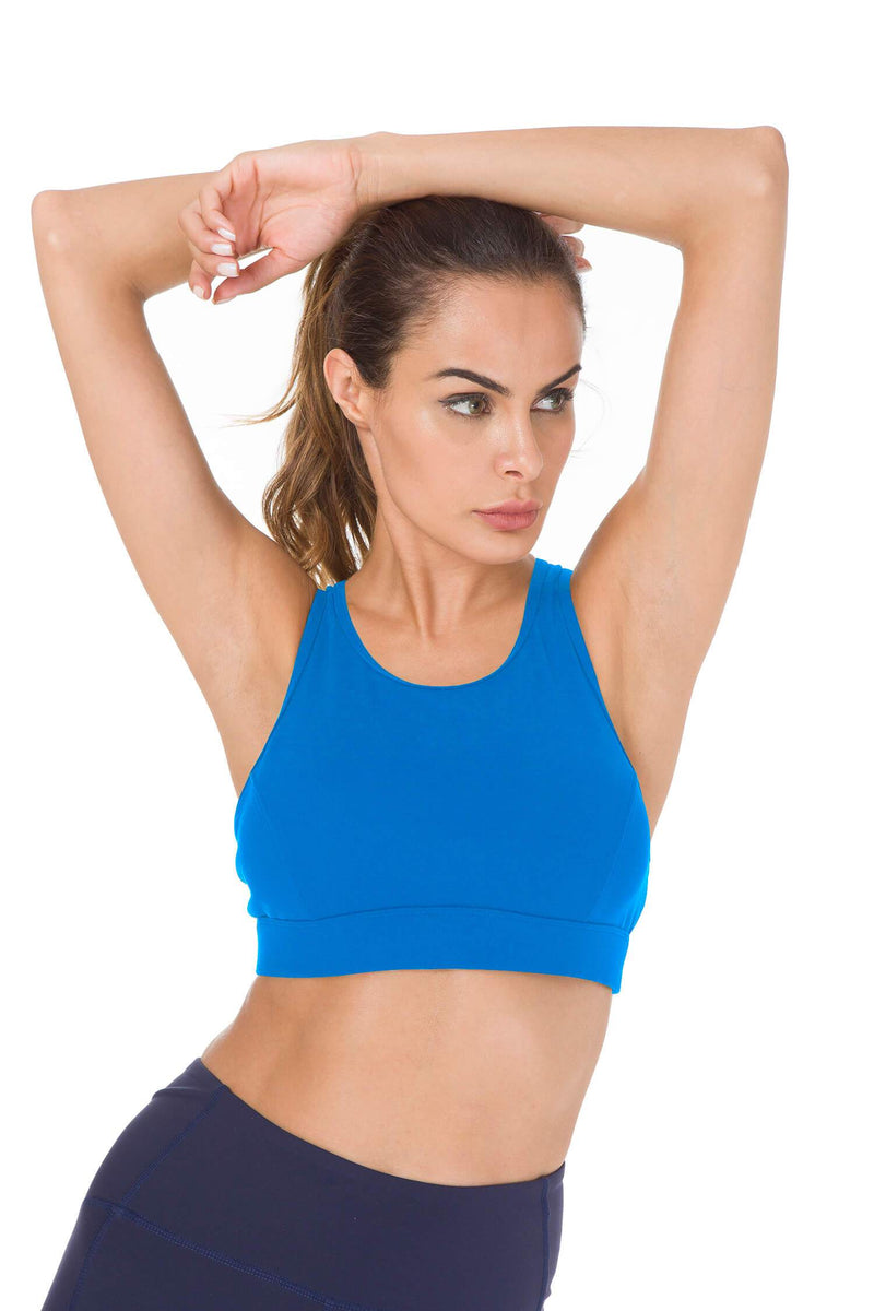 Women's Medium Support Phone Back Pockets Energy Sport Bra