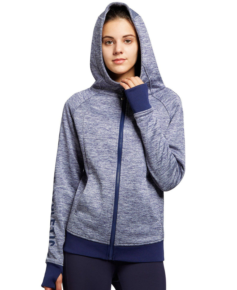 Womens Sports Jacket Hoodie Sportswear Fleece Lined Full-Zip 35055