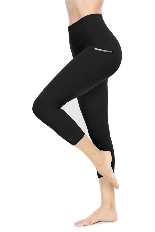 22 inches Yoga Capris with Side Pocket Running Pants Fitness Workout Leggings for Women 19204 NEW RELEASE