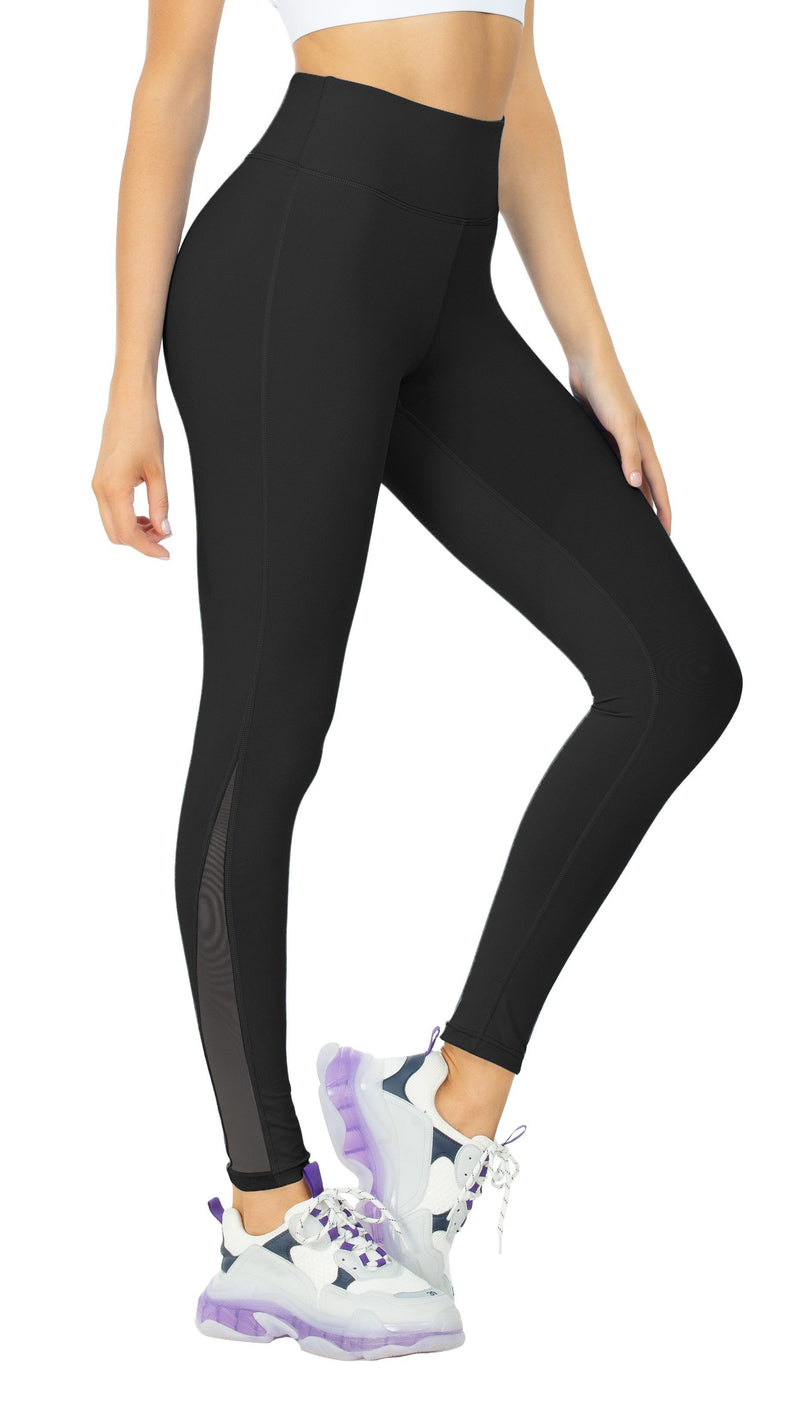 Women's Mesh Yoga Pants with 2 Pockets Tummy Control High Waist 4 Way Stretch Leggings Tights 20104 NEW RELEASE