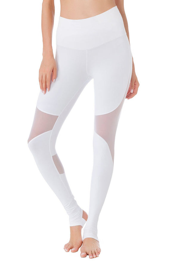 Women Yoga Pants Power Mesh High Waist Leggings - Queenie Ke