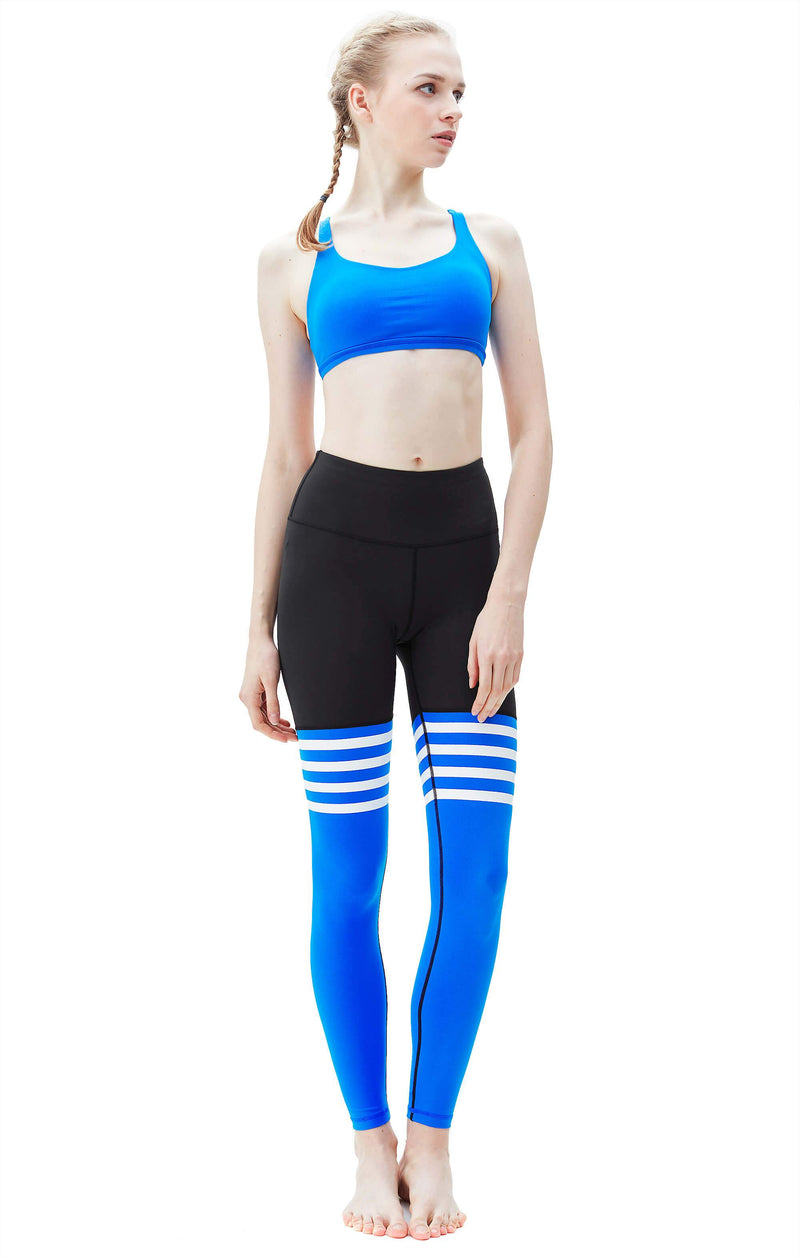 Women Yoga Leggings Knee-high Sock Pants Workout Running Tights 8208