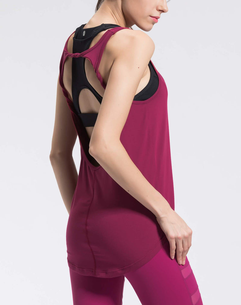 Tank Tops For Women - rose red