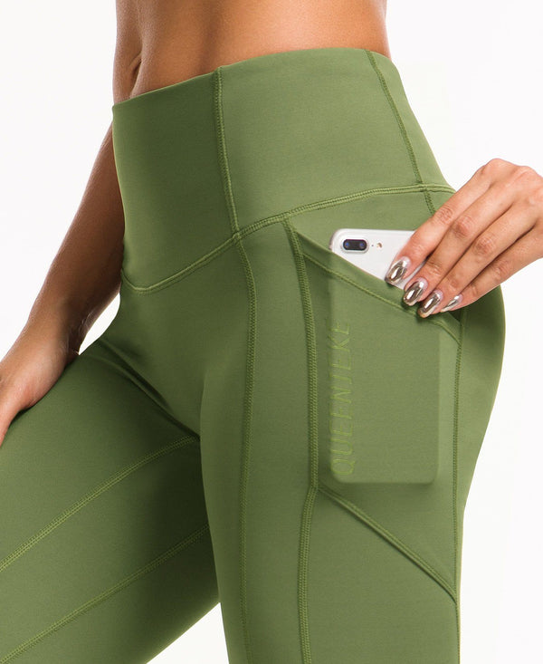 Queenieke green pocket light sweatpants