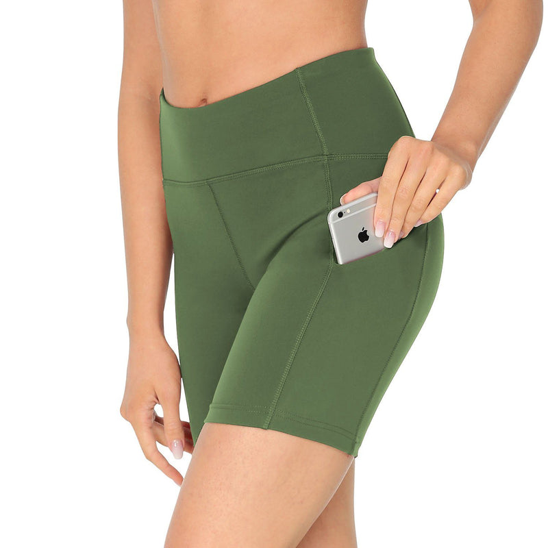 Womens 3 Side Pockets Workout Running & Training Shorts - 70822