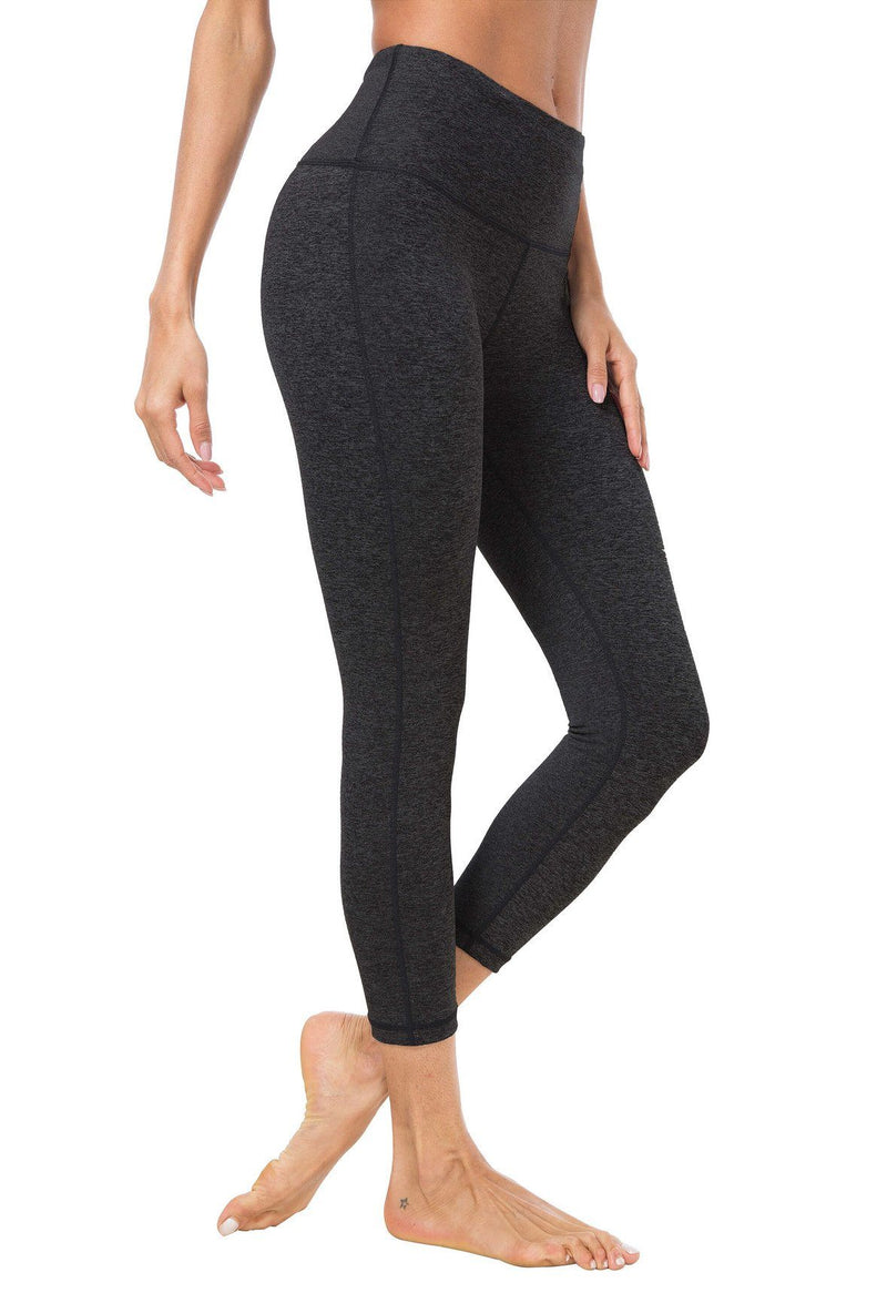 "Women 22"" Yoga Capris Power Flex Height Waist Running Workout Tights Legging"