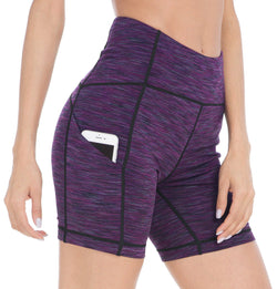 Womens 3 Side Pocke Workout Running & Training Shorts - Queenie Ke