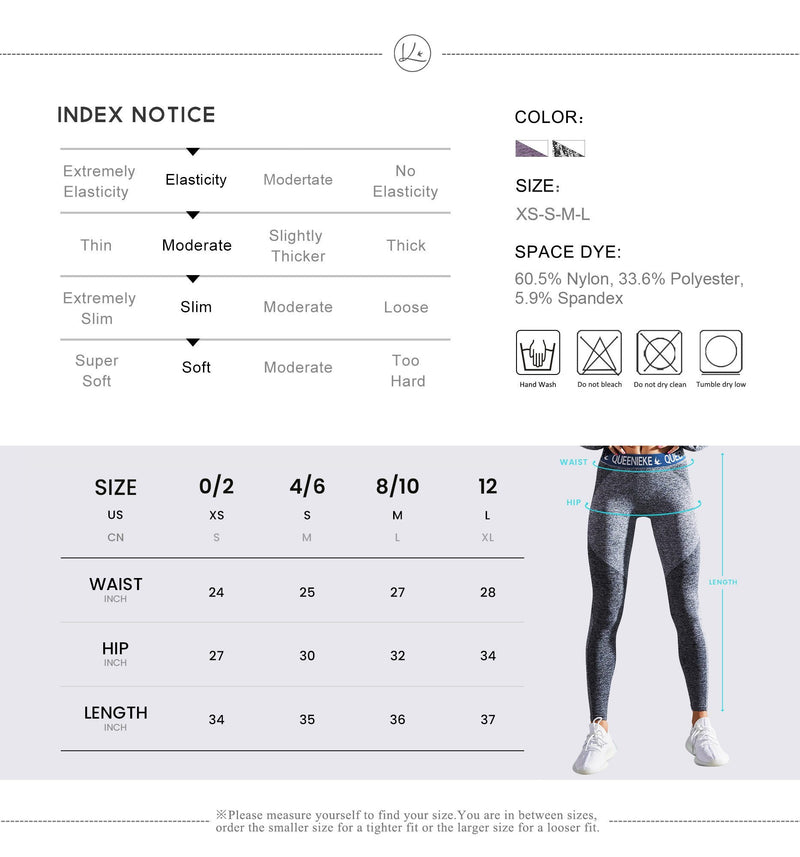Women Seamless Sports Leggings Energy Pants Slim Fit Tight Gym 91225- GREY