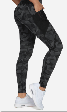 Women Yoga Leggings Mesh Mid Waist 3 Phone Pocket Gym Running Tights 60127B-NEW RELEASE