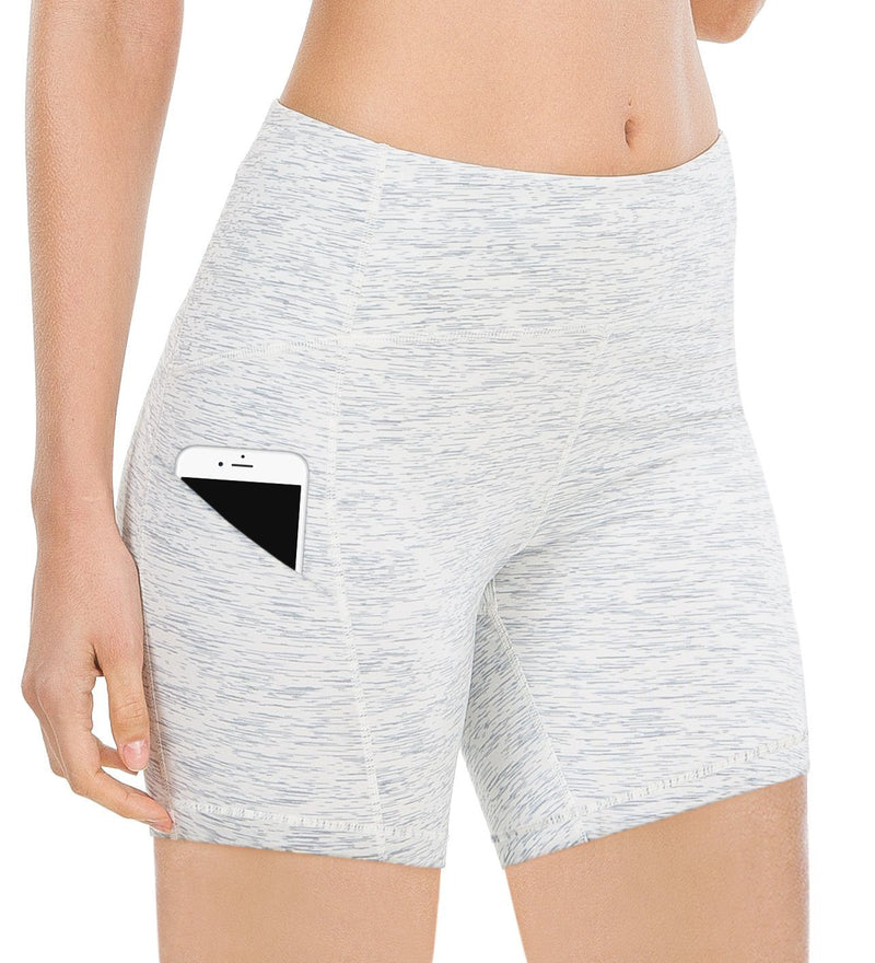 Womens 3 Side Pocke Workout Running & Training Shorts