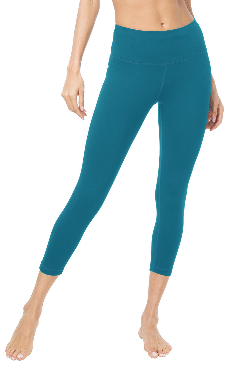 "Women 22"" Yoga Capris Power Flex Height Waist Running Workout Tights Legging - Queenie Ke"