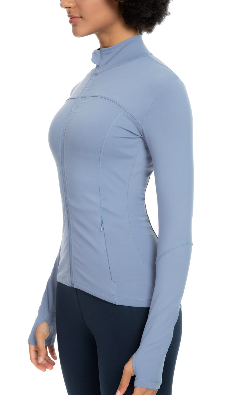 Womens Sports Jacket Turtleneck Slim Fit Full-Zip Running Top - 80927-NEW RELEASE