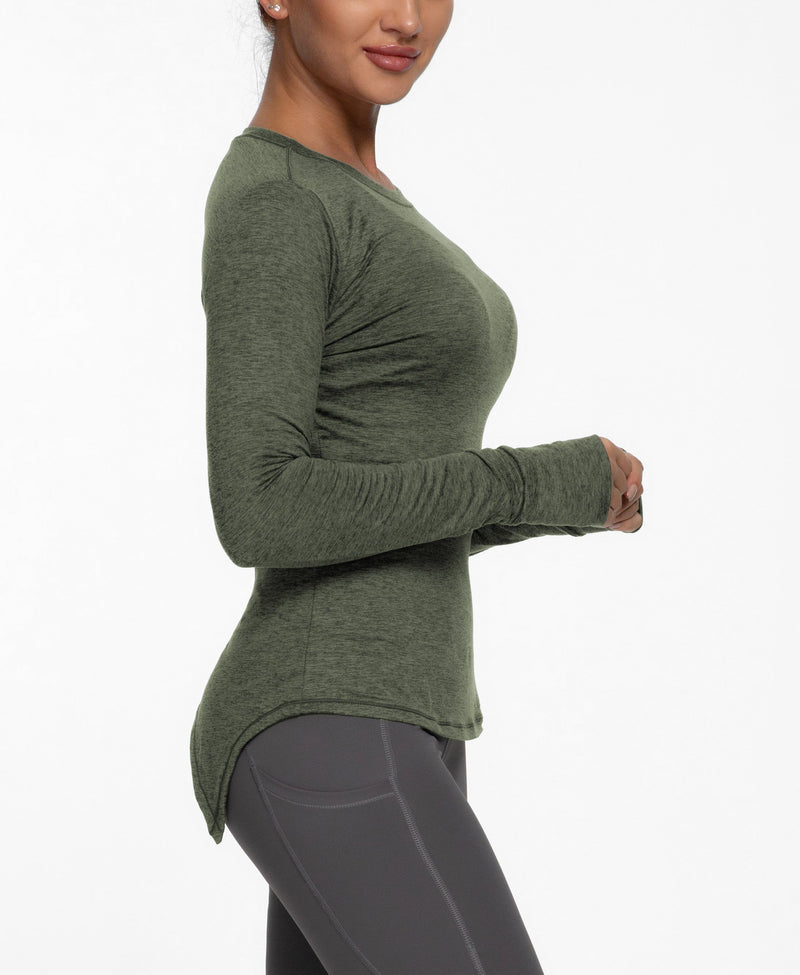 Women Yoga T-Shirt Long Sleeves Open Back Sports Tee Top - 91027-NEW RELEASE