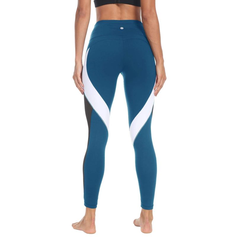 a274890f2e9f5 Queenie Ke Women 23 Yoga Pants Color Blocking Mesh Workout Running Leggings  - Bottoms