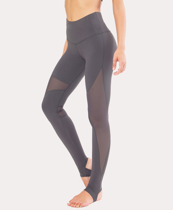 Women Yoga Pants Power Mesh High Waist Leggings
