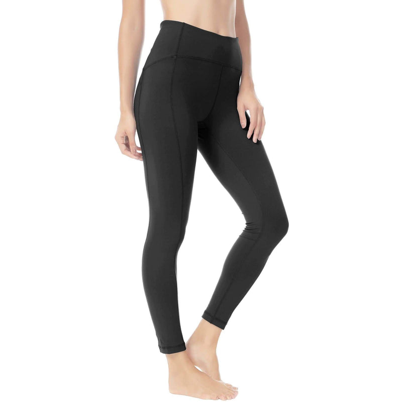 Women Ninth Power Flex High Waist Gym Running Tights - Xs / Black - Bottoms