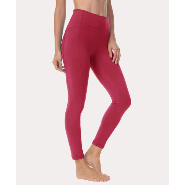 Women Ninth Power Flex High Waist Gym Running Tights - Xs / Rose Red - Bottoms