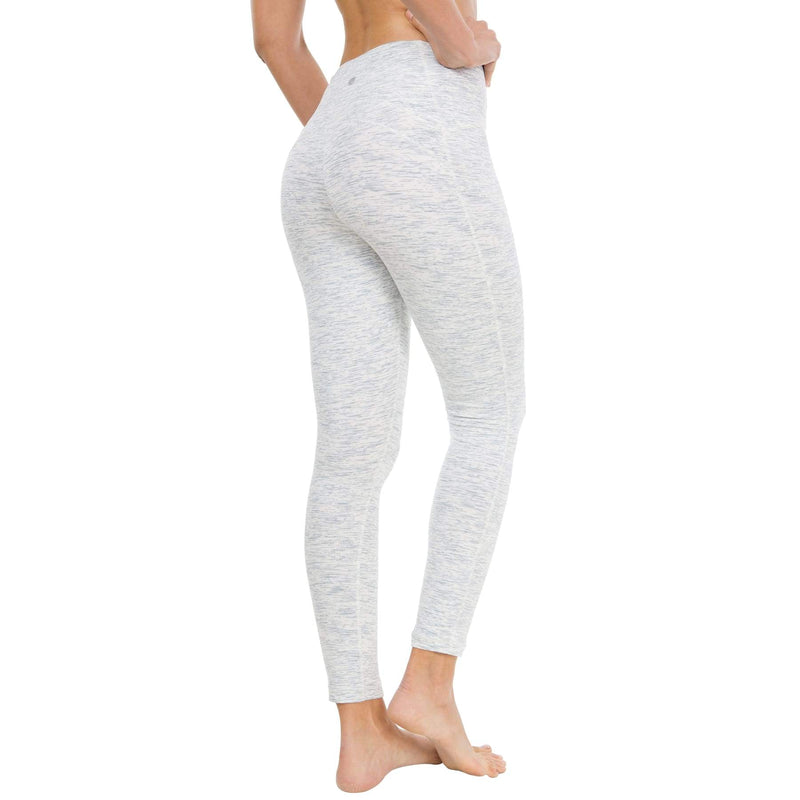 Women Ninth Power Flex High Waist Gym Running Tights - Xs / Space Dye White - Bottoms