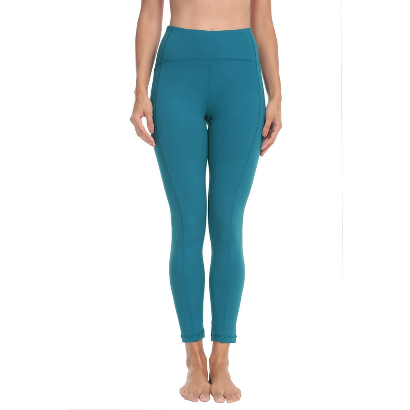 Women Ninth Power Flex High Waist Gym Running Tights - Xs / Teal - Bottoms