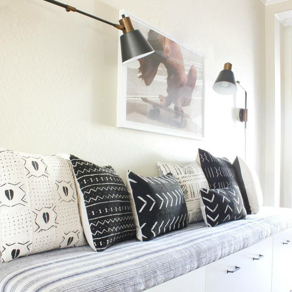 AFRICAN INDIGO + MUDCLOTH PILLOW COVERS