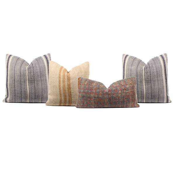 Boho Pillow Combo Rustic Stripes