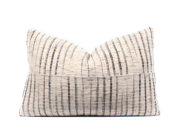 Tribal Neutral Textured Pillow Cover, Boho Pillow, Textile, 14x22, SKU041912