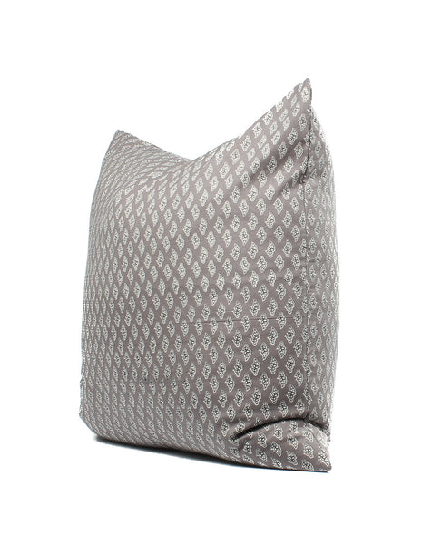 Indian Block Print Gray Boho Pillow Cover, SKU04304SH