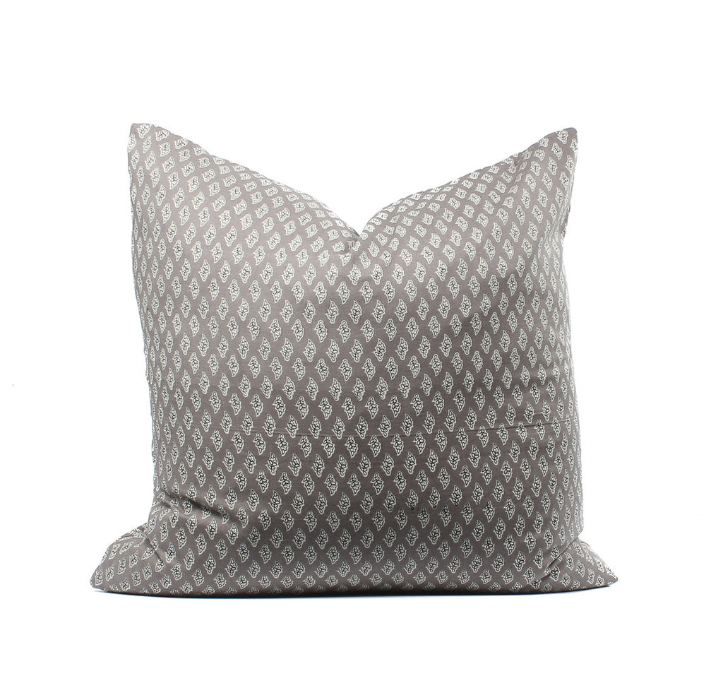 SALE Indian Block Print Gray Boho Pillow Cover, SKU04304SH