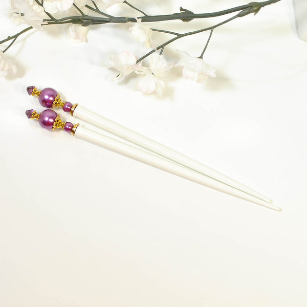 "Fuchsia Pink Wedding Hairsticks Fuchsia Hair Sticks - ""Aphrodite"""