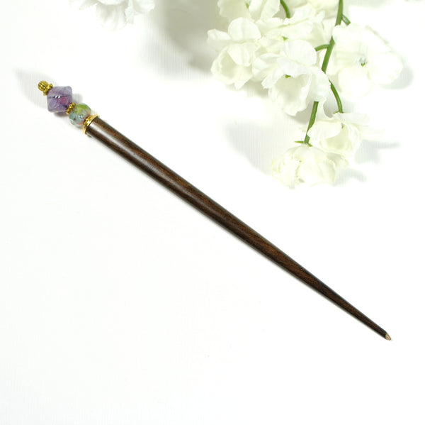 "Japanese Hair Sticks Purple Hairsticks - ""Astral Vision"" - Handmade by Purple Moon Designs"