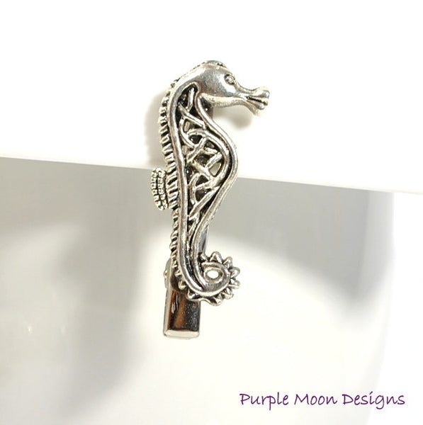 Sold - Celtic Seahorse Hair Clip Beach Accessory