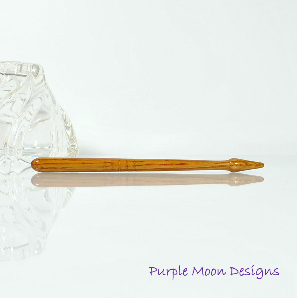 "Small Wooden Hair Stick, 5"" – SM10 - Purple Moon Designs - 1"