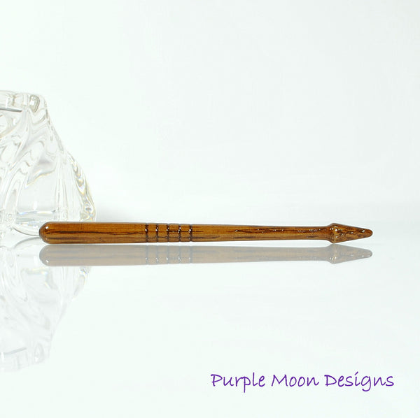 Oak Wood Hairstick 5 inch - SM11 - Handmade by Purple Moon Designs