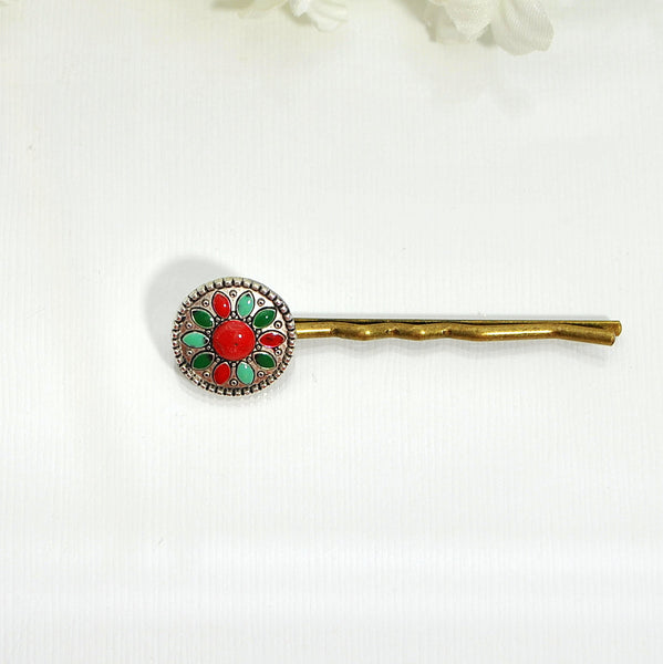 Bobby Pin Sunflower Native American Style Hair Pin