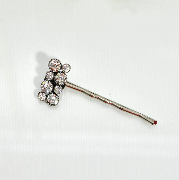 Crystal Bobby Pin Small Hair Clip - Handmade by Purple Moon Designs