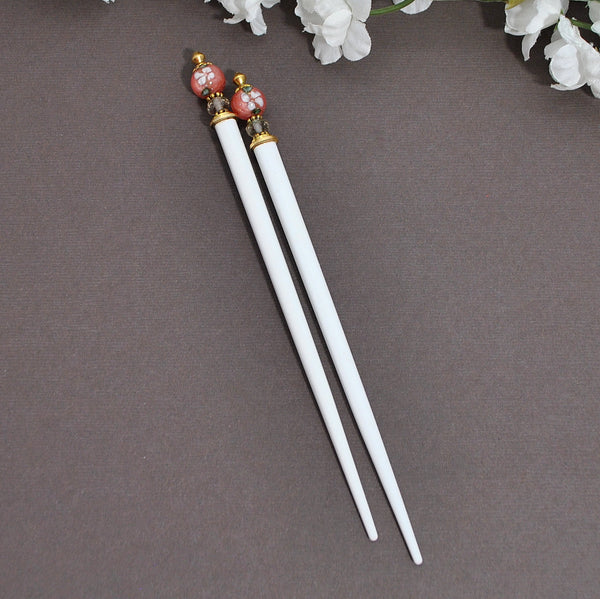 "Sold - Chinese Hair Chopstick Wooden Hairpin - ""Andrina"""